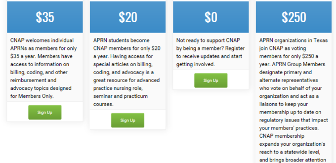 type of cnap membership